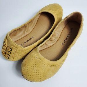 NWOT Lucky Brand Echo 3 Suede Ballet Flats